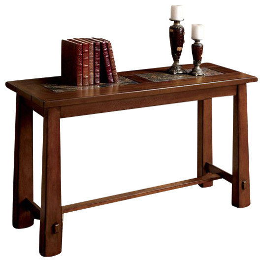 Living Stone Sofa Table By Furniture Of America
