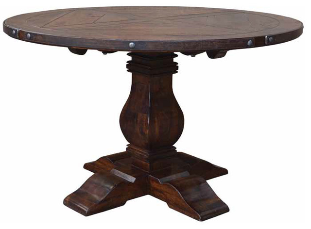 Vintages Dark Walnut Round Dining Table contemporary-dining-tables