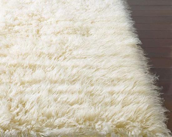 Standard Shag Greek Flokati Natural Rug, Natural -