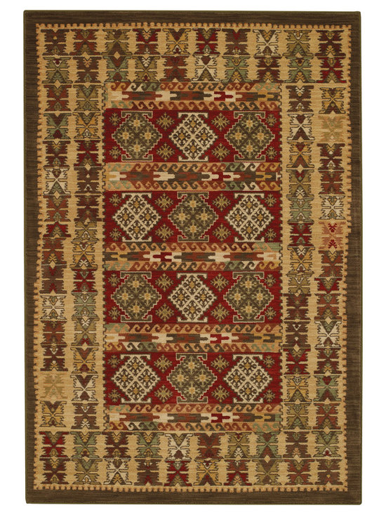 Honour Adobe rug in Multi - The Honour Collection boasts space dyed yarns in a cross woven construction for a unique old world feel.