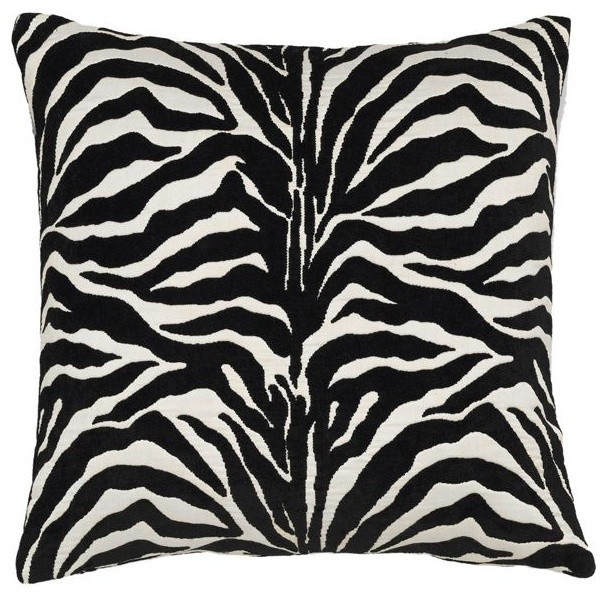 Black and White Zebra Stripe Pillow - outdoor pillows - chicago