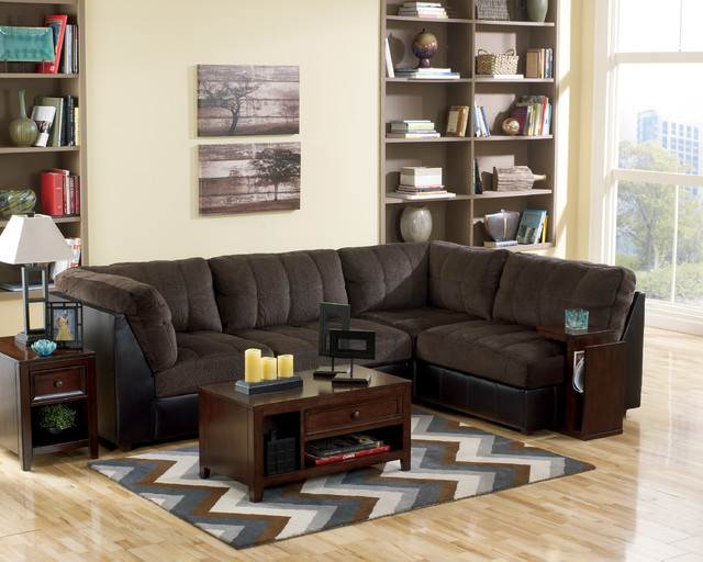 Sectionals Max Chocolate 3 Piece Reclining Sectional Sofa Bed Mattress Sale