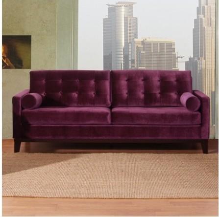 Armen Living Centennial Velvet Sofa Purple Contemporary