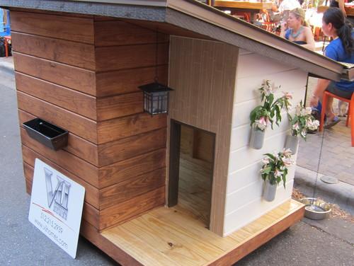 casa de madera para perro imitacion casa de verdad