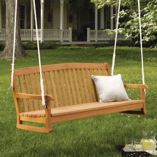 Oxford Garden 5-ft. Chadwick Wood Porch Swing traditional-kids-playsets-and-swing-sets