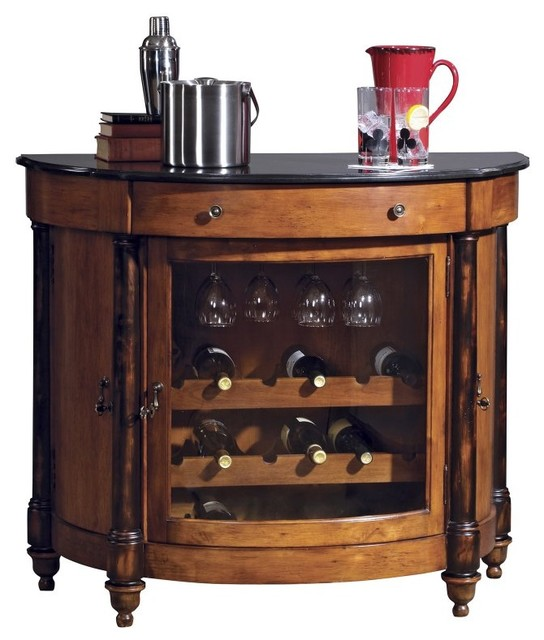 Howard Miller Merlot Valley 18 - Bottle Home Wine Bar Multicolor - 695016 contemporary-indoor-pub-and-bistro-tables