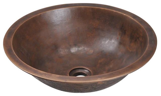 Rustic Bowl Sink : 951 Single Bowl Bronze Bathroom Sink - Contemporary - Bathroom Sinks ...