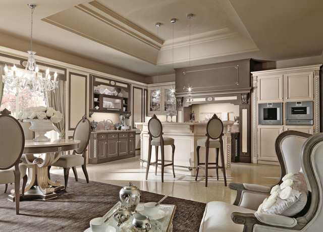 Luxury italian custom made kitchens by martini mobili for Ville lussuose interni