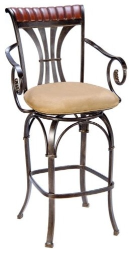 Hillsdale 30-in. Fairfield Swivel Bar Stool contemporary-bar-stools-and-counter-stools