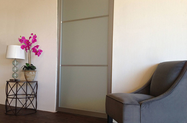 Acrylic Glass Pocket Doors Contemporary Interior Doors Los Angeles By Open Close Doors