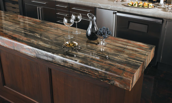 Petrified wood laminate 180fx kitchen countertops for Looking for kitchen