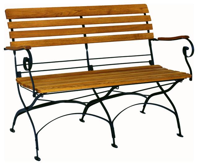 Contemporary Outdoor Benches: Haste Garden Rebecca Folding Bench