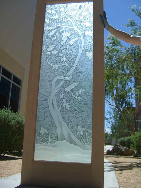 Sapling Tree - Same Design Done Different tropical-interior-doors