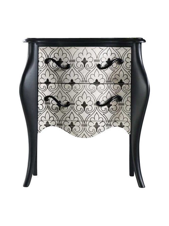 Hooker Furniture - Hooker Furniture Melange Black and White Accent Chest - Hooker Furniture - Accent Chests - 63850093 - Come closer to Melange and you will discover something unexpected an eclectic blending of colors textures and materials in a vibrant collection of one-of-a-kind artistic pieces.