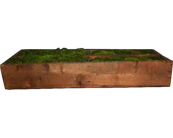 Napa Valley Vineyard - This wooden box was found at a Napa Valley Vineyard. Great in the middle of a large table with moss (as pictured) or with candles.