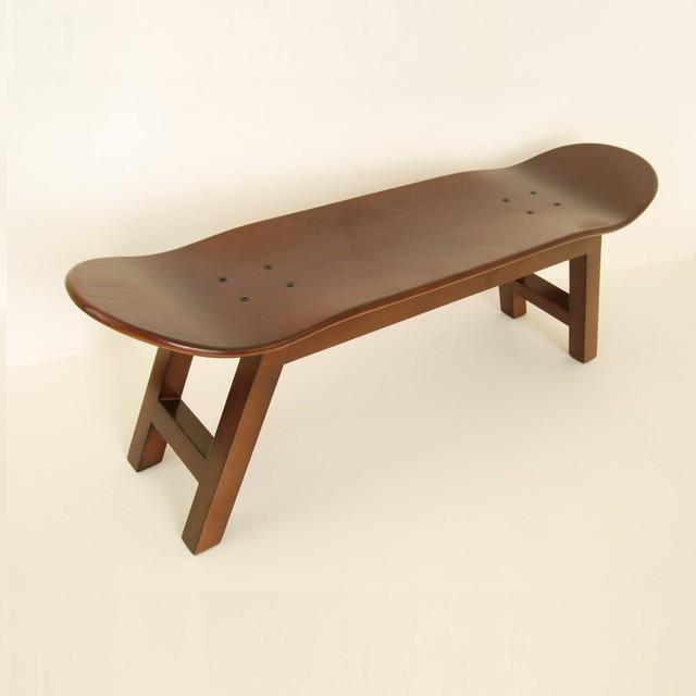 Skateboard Stool Nollie Flip Walnut Color By Skate Home