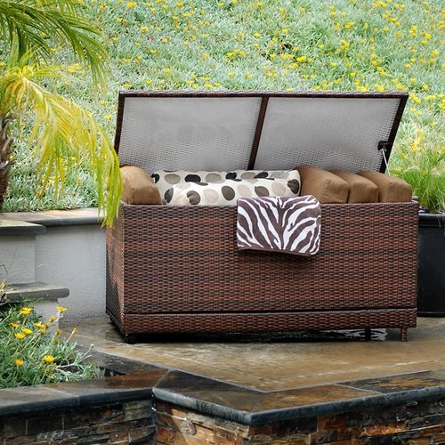 RST Outdoor Cantina Resin Wicker Deck Box contemporary-storage-bins-and-boxes