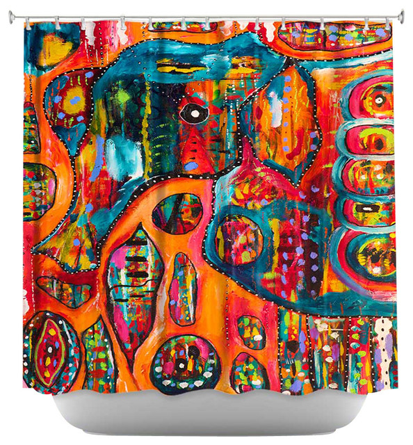 shower curtain artistic abstract elephant contemporary