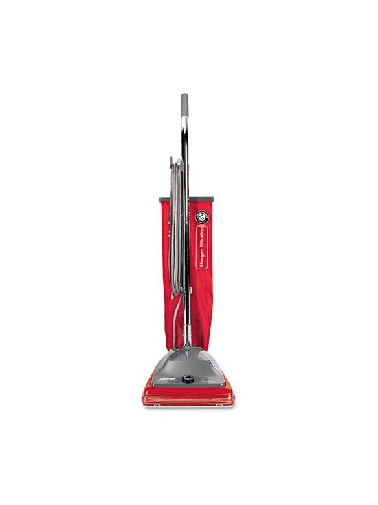 EUREKA COMPANY - Eureka SC688A 6.5A Hvy Duty Vacuum Cleaner - Allergen micron filtration retains 100 percent of dust mites, grass pollen and ragweed, plus particles 15 times smaller than the diameter of a human hair. Vibra Groomer I brush roll steel assembly with cleaning action that vibrates out deeply embedded dir t. 6-position adjustable height offers optimal cleaning for multiple carpet and floor surfaces. Headlight illuminates behind and under furniture. Extra long, 50' cord, 7-amp motor. Heavy duty cloth bag. Uses No.52100 (SKU 098-.4294) belts, and type ST bag . Clean Path in =12. This item cannot be shipped to APO/FPO addresses. Please accept our apologies