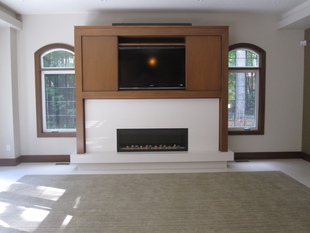 Wall Units And Fireplaces Contemporary Living Room