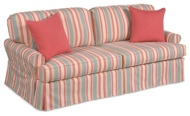 Chelsea Home Madison Queen Sleeper in Toulon Surf traditional-sectional-sofas