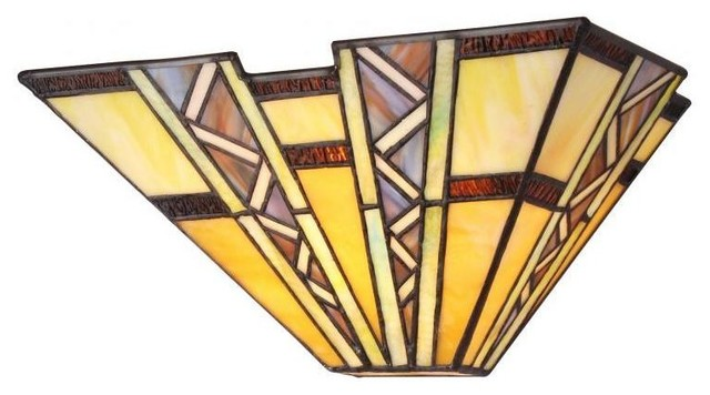 Tiffany Style Mission Design 1-light Wall Sconce - contemporary
