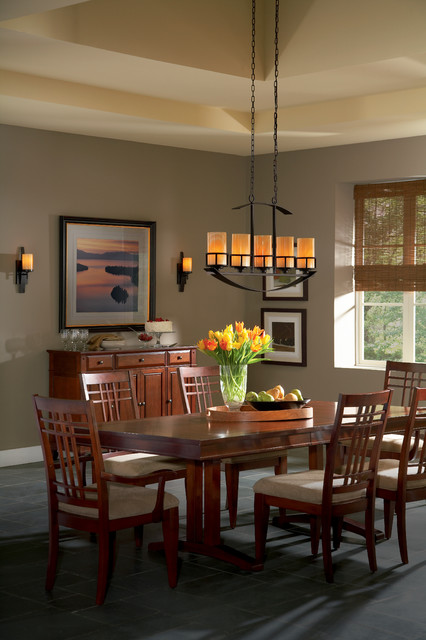 Island Chandelier From Quoizel Kyle Collection Traditional Dining Room