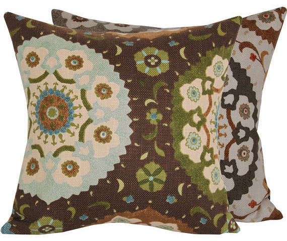 Cafe Ole Collection Accent Pillow l Chloe and Olive contemporary-decorative-pillows