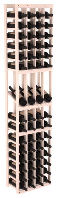 4 Column Display Row Wine Cellar Kit in Pine, White Wash Stain contemporary-wine-racks