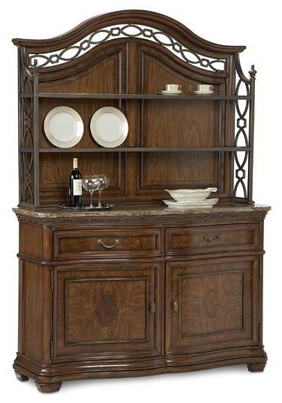 ART Furniture - Traditions Sideboard And Baker'S Rack In Distressed Maple - 6525 traditional-buffets-and-sideboards