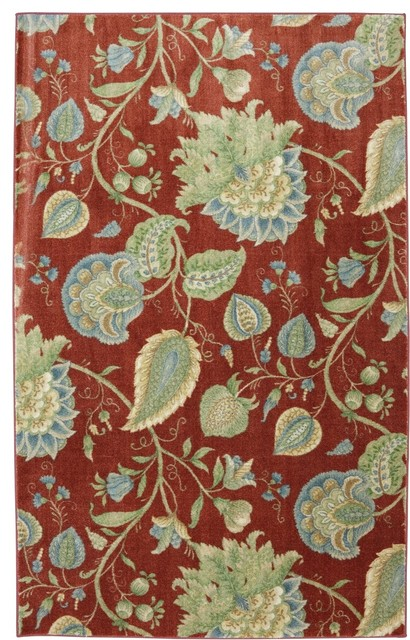 Flagstaff Foley House Red Floral 8' x 10' American Rug Craftsmen (11803) tropical-rugs