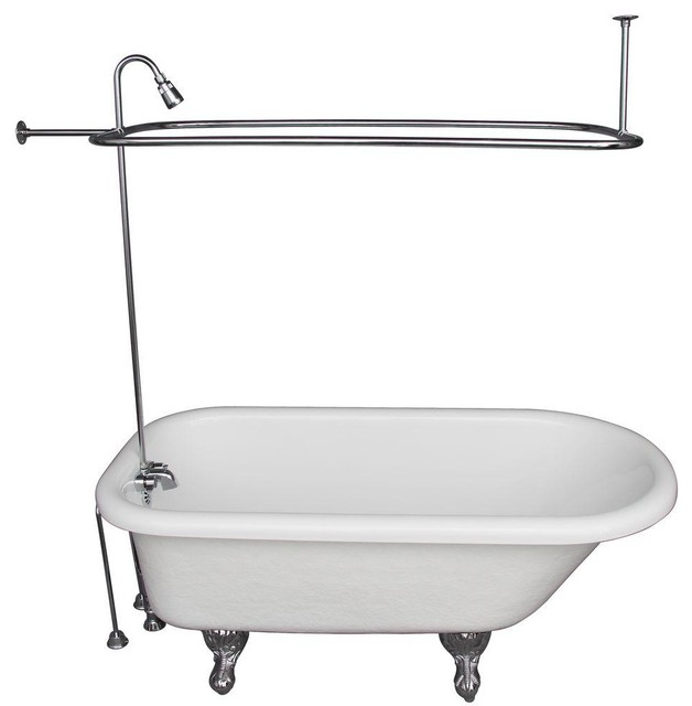 Barclay Products Bathtubs 5 6 Ft Acrylic Ball And Claw Foot Roll Top Tub In