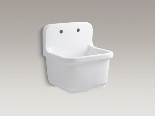 Service Sink : ... -mounted service sink with 2 faucet holes contemporary-kitchen-sinks