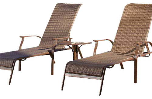 Panama Jack Island Cove Woven 3 Piece Chaise Lounge Set ...