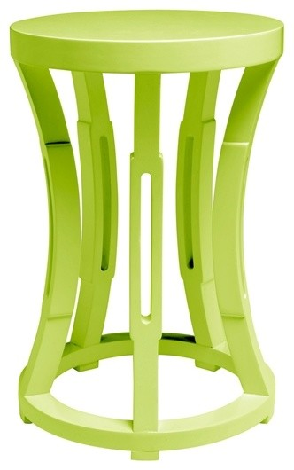 Hourglass Stool or Side Table, Spring Green contemporary-side-tables-and-end-tables