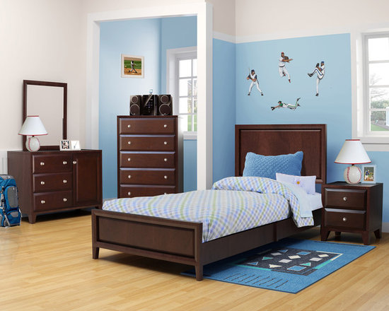 Kids Furniture - Growing from boys into young men, the Leo collection will transform along with your child. Classic, yet versatile, this collection, with its walnut finish, has everything needed to create a warm, inviting bedroom.