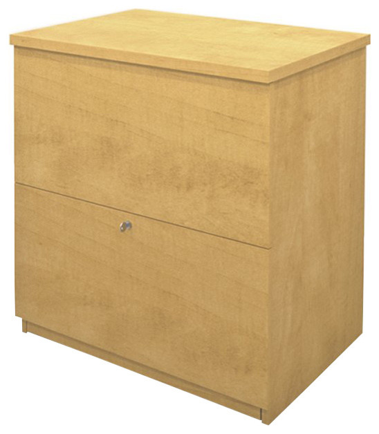 Bestar 2 Drawer Lateral Wood File Storage Cabinet in Secret Maple transitional-filing-cabinets