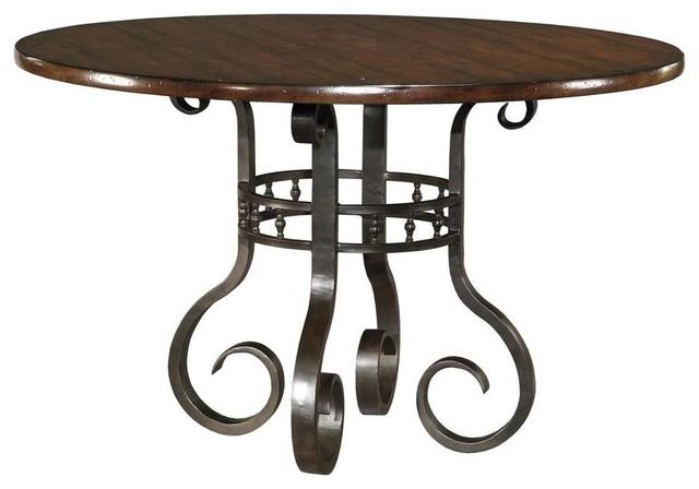 "New Round Jardin Garden Table, Santa Fe Finish, 36"" High traditional-dining-tables"