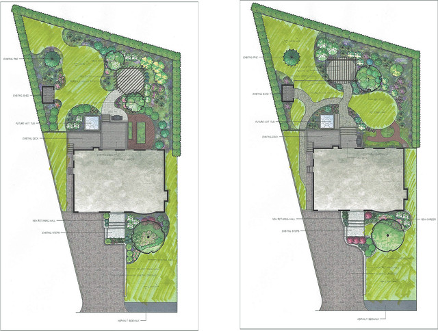 Residential Landscape designs traditional