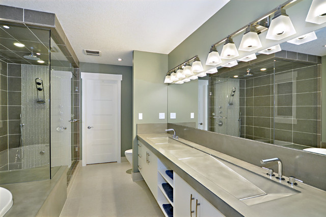 Concrete Vanitys and Sinks - Contemporary - Bathroom Sinks - calgary ...
