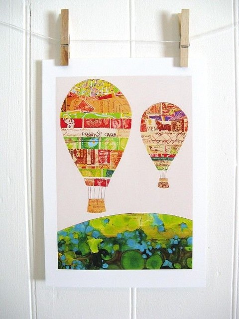 Hot Air Balloons Print contemporary-artwork