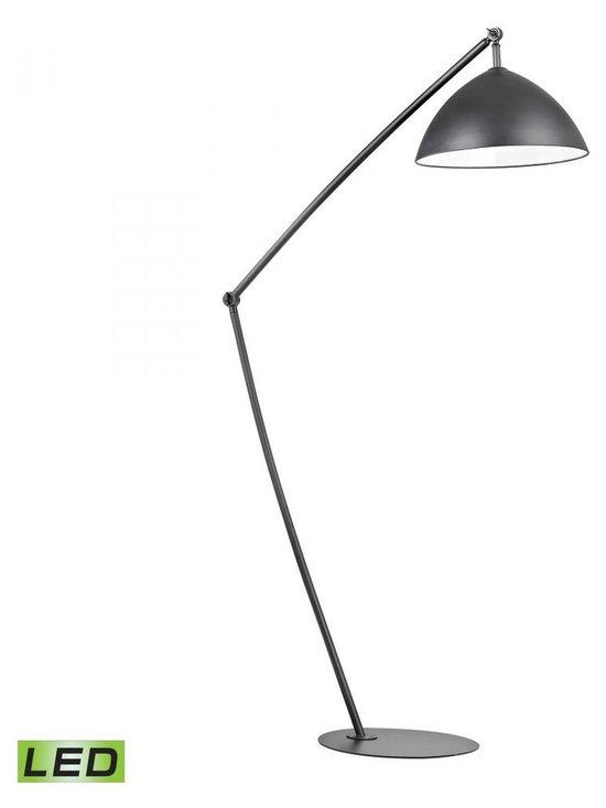Dimond - One Light Matt Black Matt Black, Metal Shade Floor Lamp - One Light Matt Black Matt Black, Metal Shade Floor Lamp