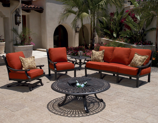 5 Pc Del Mar Aluminum Outdoor Sofa Set By Sunset West Modern Patio San Diego By