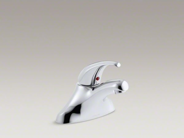 KOHLER Coralais(R) centerset commercial bathroom sink faucet with lever handle, contemporary-bathroom-faucets-and-showerheads