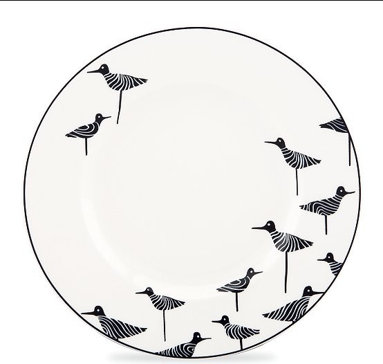 kate spade Wickford Sandpiper Accent Plate contemporary-dinner-plates