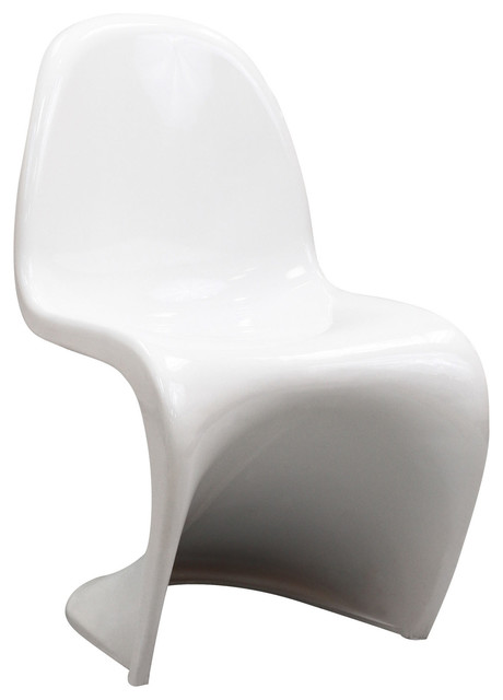 Verner Kids Panton Style Chair in White modern-chairs