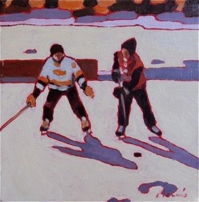Pond Hockey 14 By Elizabeth Lennie contemporary-artwork