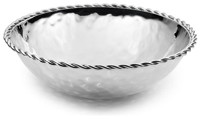"""Paloma Round Bowl with Braided Wire, 4.5"""" traditional-serving-and-salad-bowls"""