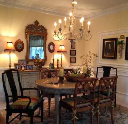 eclectic dining room chester county