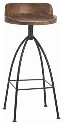 Henson Wood Amp Iron Barstool